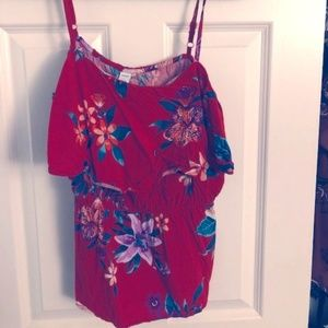 Old Navy red flower sleeveless top